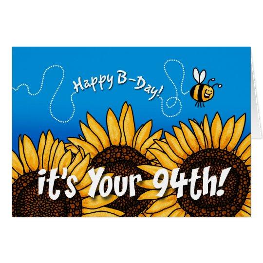 Bienenhintersonnenblume - 94 Jahre alt Karte