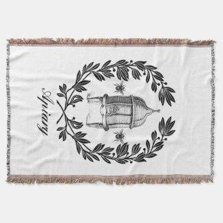 Bienenkönigin-Bienenhaus-Thema-Wurfs-Decke Decke
