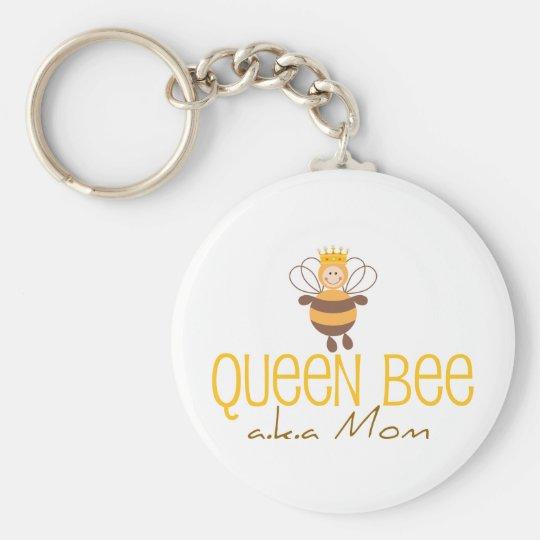 Bienenkönigin Standard Runder Schlüsselanhänger