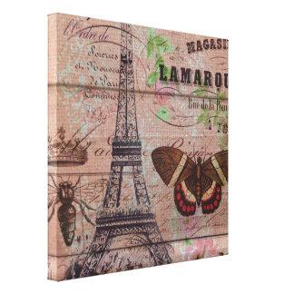 Bienenschmetterling Paris-Eiffelturm der Krone Leinwanddruck