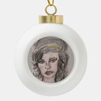 Bienenstock-Mädchen Keramik Kugel-Ornament