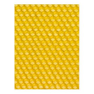 Bienenwaben-Hintergrund-Geschenk-Schablone Postkarte