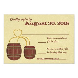 Bier-Brauerei-Hochzeits-Antwort 8,9 X 12,7 Cm Einladungskarte