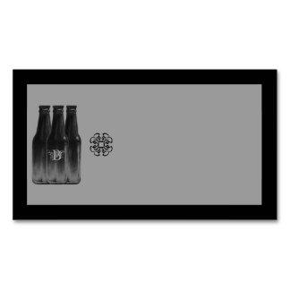 Bier-Gebräu-Visitenkarte-Magnet-Raum-Schwarzes u. Visitenkartenmagnet