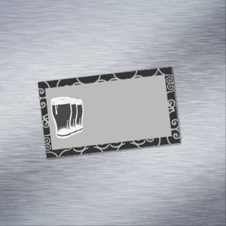 Bier-Glas-Visitenkarte-Magnetfreier raum Magnetische Visitenkarte