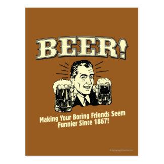 Bier: Helfende Freunde scheinen lustiger Postkarten