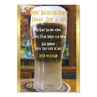 Bier ich Junggeselle-Party 12,7 X 17,8 Cm Einladungskarte