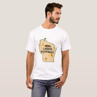 BIER. KÄSE. FUSSBALL. WISCONSIN-SPASS-SHIRT T-Shirt