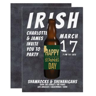 Bier-Party-IrenShenanigans St. Patricks Tages Karte