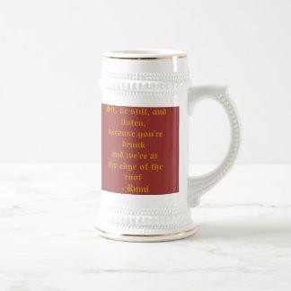 Bier Stein mit Rumi Zitat Bierglas