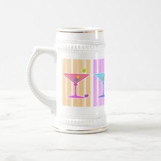 Bier, Stein - Retro Pop-Kunst-Martinis Bierkrug