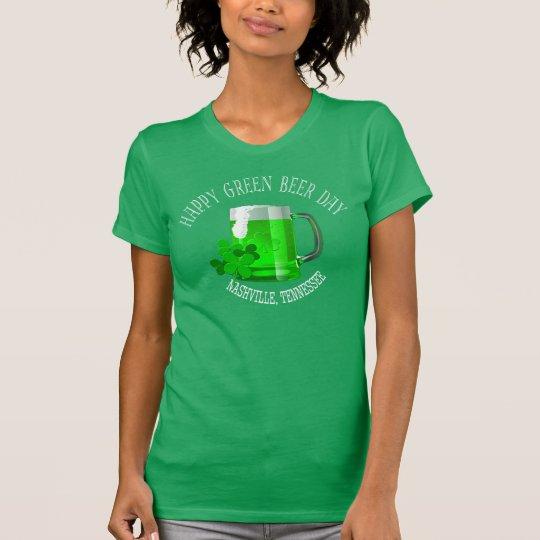 Bier-Tagesfrauen Nashvilles die grünen T - Shirts