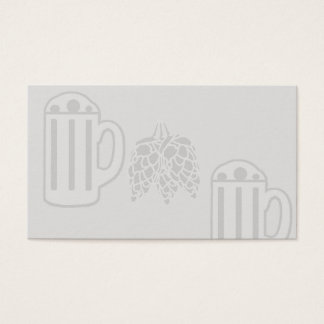 Bier-Tassen-Hopfendruck - freier Raum Visitenkarte