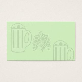 Bier-Tassen-Hopfendruck - leeres Grün Visitenkarte