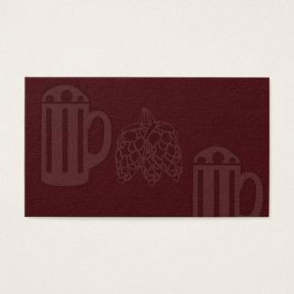 Bier-Tassen-Hopfendruck - leeres Rot Visitenkarte