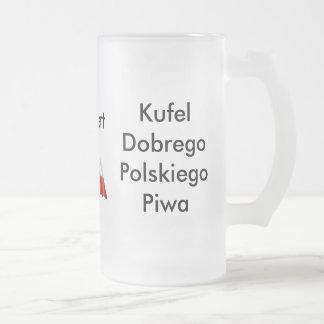 Bier-Tassen-Polnisch-Bier Mattglas Bierglas