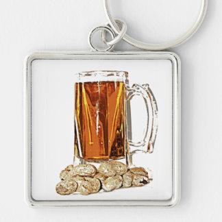 Bier und Erdnüsse Schlüsselanhänger