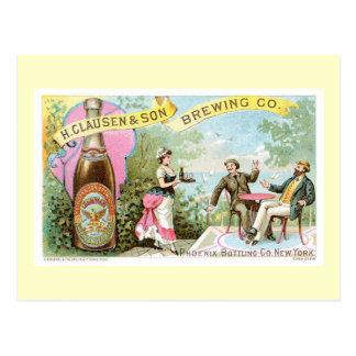 Bier-Vintage Getränk-Anzeigen-Kunst Postkarte