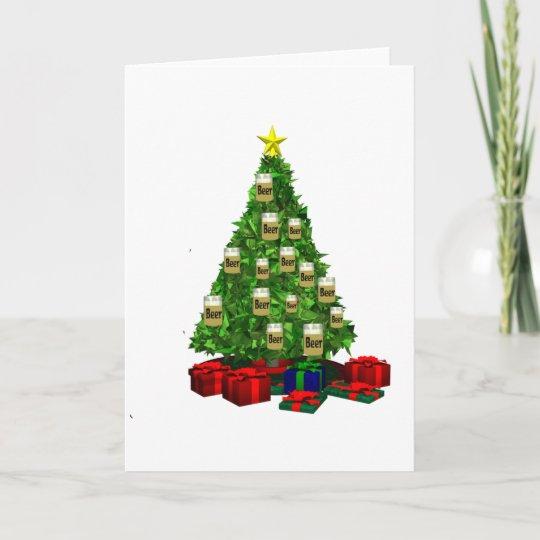 Bier Weihnachtsbaum.Bier Weihnachtsbaum Feiertagskarte