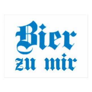 Bier zu mir bayrisch bayerisch Bayern bavarian Postkarte