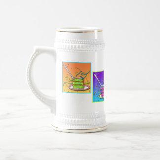 BierSteins - Pop-Kunst-Kuchen Bierkrug