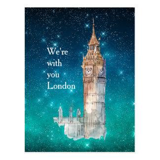 Big Ben-Aquarell-London-solidarität Postkarte