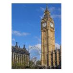 Big Ben et la carte postale d'oeil de Londres