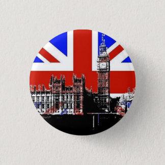 Big Ben und der Gewerkschafts-Jack Runder Button 3,2 Cm