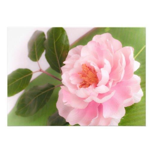 big pink flower faire-part