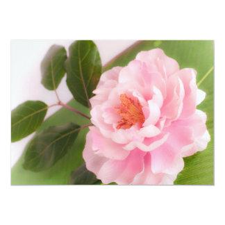 big pink flower carton d'invitation  12,7 cm x 17,78 cm