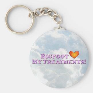 Bigfoot-Lieben meine Behandlungen - grundlegend Schlüsselanhänger