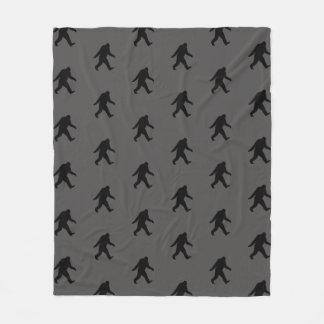Bigfoot-Silhouette-Muster Fleecedecke