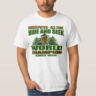 Bigfoot-Verstecken-Weltmeister T-Shirt