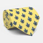 bilatéral Fleur-De-lis jaune héraldique Cravate