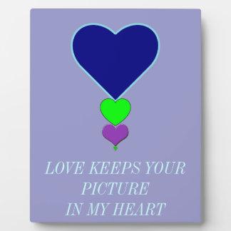 Bild der Liebe Fotoplatte