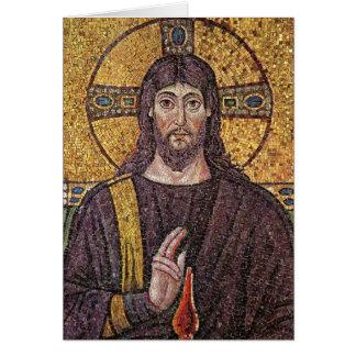 Bild der religiösen leeren Karte Jesus-Mosaiks