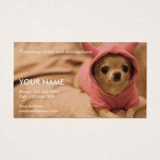 Bild des niedlichen Chihuahua Visitenkarte