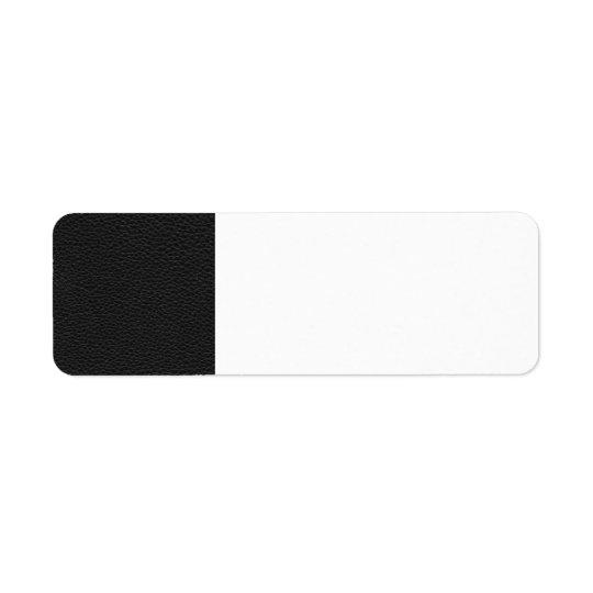 Bild des schwarzen Leders Rücksende Aufkleber