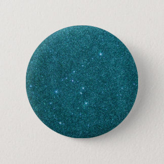 Bild des trendy aquamarinen Glitters Runder Button 5,1 Cm