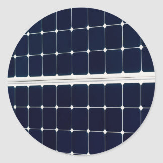 Bild einer SolarPowerplatte lustig Runder Aufkleber