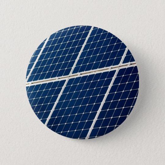 Bild einer SolarPowerplatte lustig Runder Button 5,7 Cm