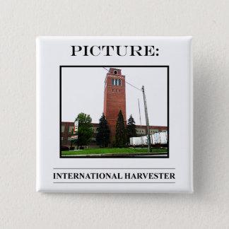 Bild-Knopf-Nr. 15 Quadratischer Button 5,1 Cm