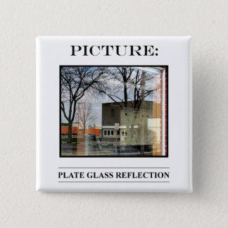 Bild-Knopf-Nr. 9 Quadratischer Button 5,1 Cm