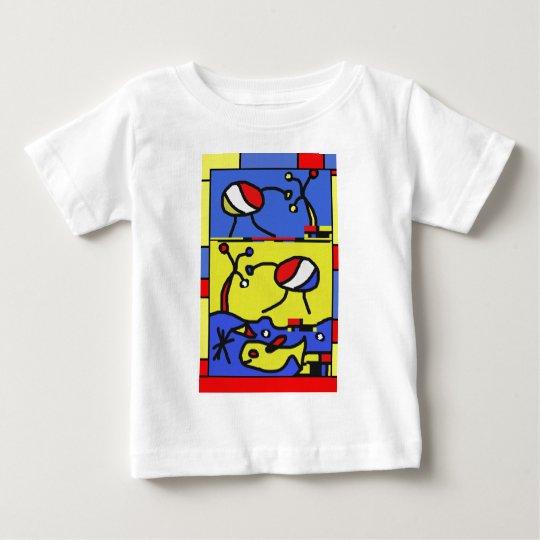 Bild mit Fisch-moderner Kunst Baby T-shirt