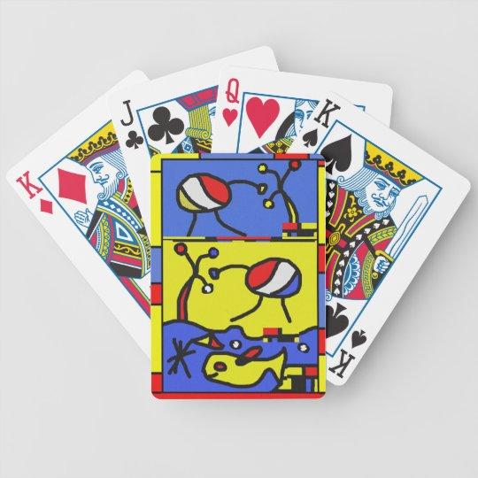 Bild mit Fisch-moderner Kunst Bicycle Spielkarten