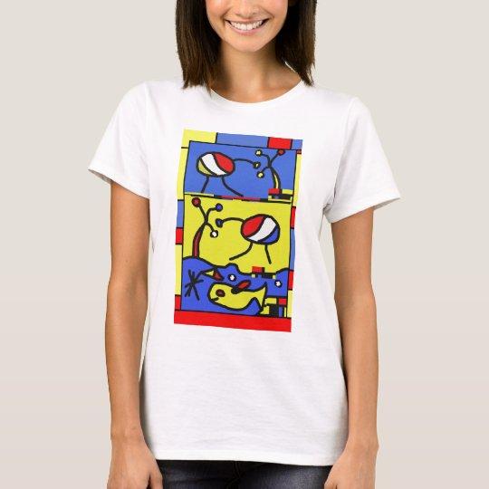 Bild mit Fisch-moderner Kunst T-Shirt