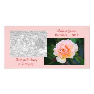 Bild-perfekte Rose danken Ihnen Foto-Karten Photo Karten Vorlage