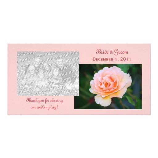 Bild-perfekte Rose danken Ihnen Foto-Karten Photo Grußkarte