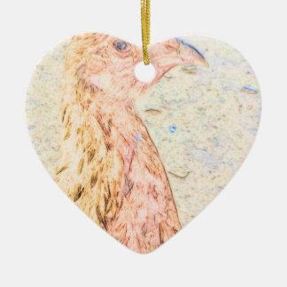 Bild pic chicken.png keramik Herz-Ornament