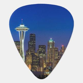 Bild von Seattle-Skylinen in Morgenstunden Plektrum